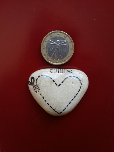 Heart Cutline - Magnet