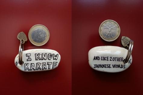 I know karate - Keyring.jpg