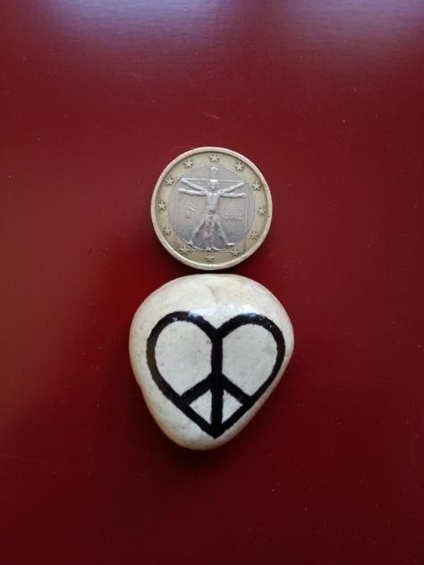Love Peace - Magnet