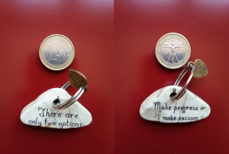 Make progress or make excuses - Keyring.jpg